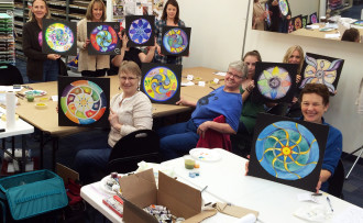 Mandalas (almost) finished. Aren't they gorgeous?