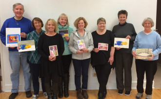Watercolor Jumpstart class at The Phipps Center for the Arts, winter 2015