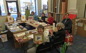 Watercolor Jumpstart class at Wet Paint, winter 2015.