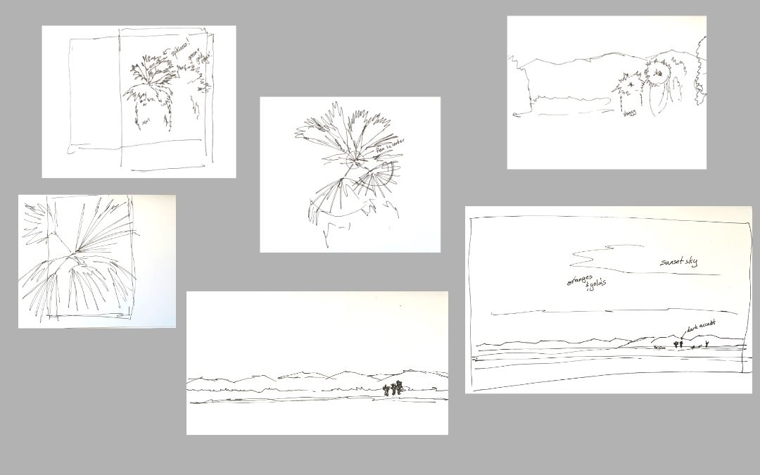 Painless Planning for Watercolor, Part 1: Exploratory Drawing