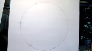 Six arcs evenly dividing the circle.