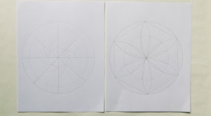 Circular designs with eight-fold and six-fold symmetry.