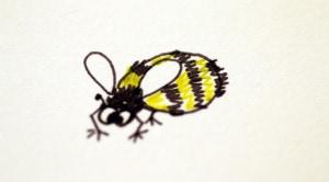 Cartoon bumblebee.