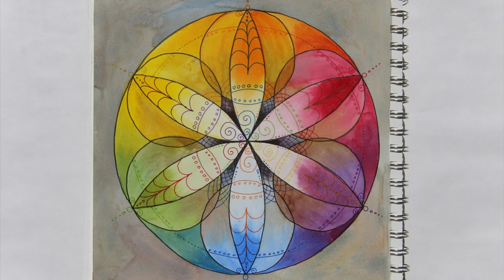 """Stained Glass"" Mandalas—Fill Your Journal Page with Beautiful Light"