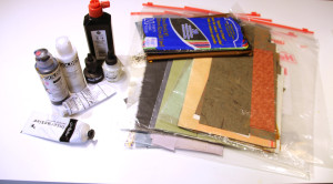 Things you can use for covering up all or part of the page: titanium white acrylic or gouache, black or white ink, tissue and collage papers.