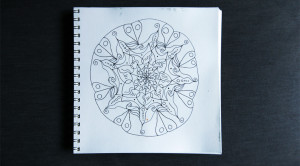 Mandala drawn using the techniques in the video.